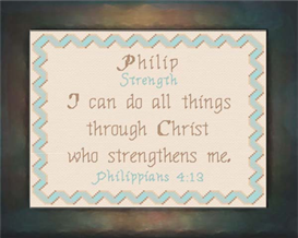 Name Blessings - Philip | Crafting | Cross-Stitch | Religious