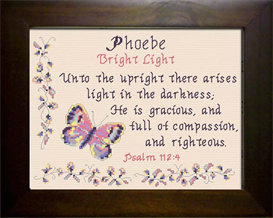 Name Blessings - Phoebe | Crafting | Cross-Stitch | Religious