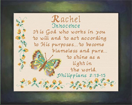 Name Blessings - Rachel2 | Crafting | Cross-Stitch | Religious