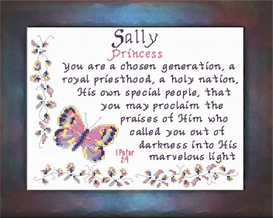 Name Blessings - Sally | Crafting | Cross-Stitch | Religious