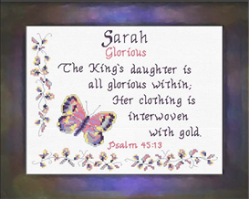 Name Blessings - Sarah 2 | Crafting | Cross-Stitch | Religious