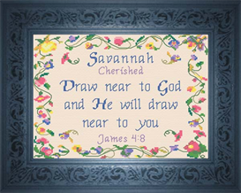 Name Blessings - Savannah | Crafting | Cross-Stitch | Religious