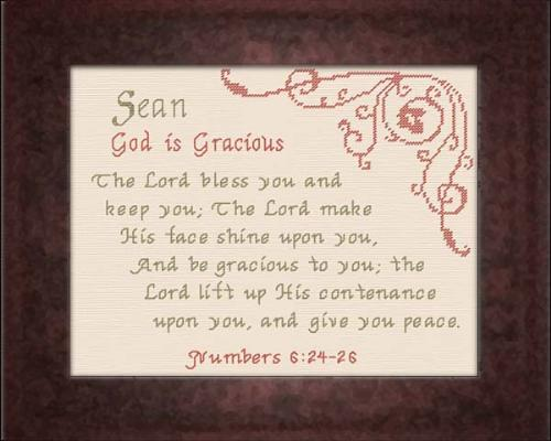 First Additional product image for - Name Blessings - Sean