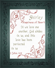 Name Blessings - Shirley | Crafting | Cross-Stitch | Religious