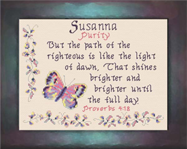 Name Blessings - Susanna | Crafting | Cross-Stitch | Religious