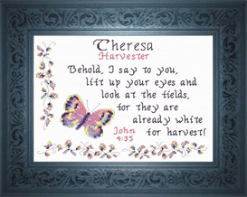 Name Blessings - Theresa | Crafting | Cross-Stitch | Religious