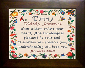Name Blessings - Tommy | Crafting | Cross-Stitch | Religious