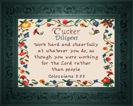 Name Blessings - Tucker | Crafting | Cross-Stitch | Religious