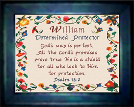 Name Blessings - William | Crafting | Cross-Stitch | Religious