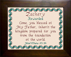 Name Blessings - Zachery | Crafting | Cross-Stitch | Other