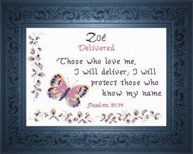 Name Blessings - Zoe | Crafting | Cross-Stitch | Religious