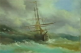 Sailing Ship in a Storm | Movies and Videos | Arts