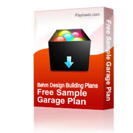free garage plan samples