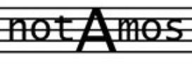 Zarlino : Nigra sum sed formosa : Full score   Music   Classical