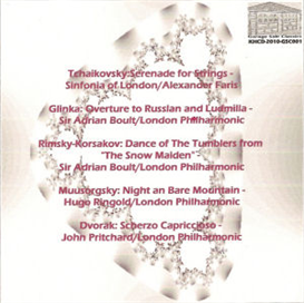 "Tchaikovsky: Serenade for Strings, Op. 48; Glinka: Overture to ""Ruslan and Ludmilla""; Rimsky-Korsakov: Dance of the Tumblers from ""The Snow Maiden""; Mussorgsky: Night on Bare Mountain;  Dvorak: Scherzo 