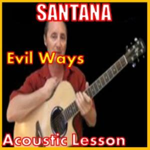 learn to play evil ways by santana