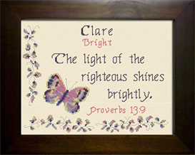 Name Blessings - Clare | Crafting | Cross-Stitch | Religious