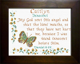 Name Blessings - Caitlyn | Crafting | Cross-Stitch | Religious