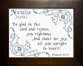 Name Blessings - Natalie   Crafting   Cross-Stitch   Religious