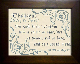 Name Blessings - Thaddeus | Crafting | Cross-Stitch | Religious