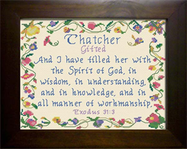 Name Blessings - Thatcher | Crafting | Cross-Stitch | Other