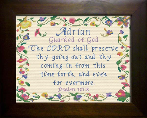 First Additional product image for - Name Blessings - Adrian