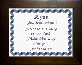 Name Blessings - Ryan 3 | Crafting | Cross-Stitch | Religious