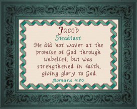Name Blessings - Jacob 2 | Crafting | Cross-Stitch | Religious