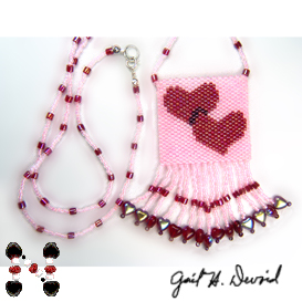 Hearts Amulet Bag | eBooks | Arts and Crafts