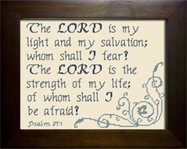 My Light My Salvation - Psalm 27:1 | Crafting | Cross-Stitch | Religious