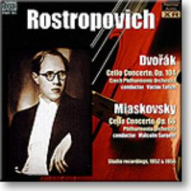 ROSTROPOVICH plays Dvorak and Miaskovsky concertos, Ambient Stereo MP3 | Music | Classical