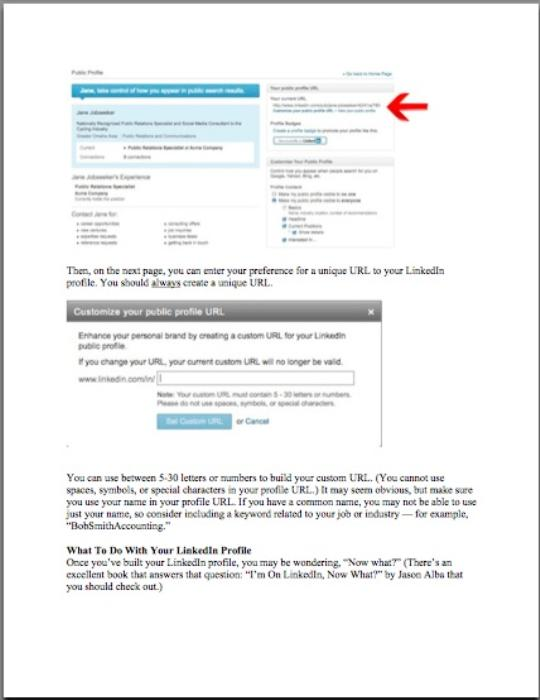 Fourth Additional product image for - Getting Started with LinkedIn (Pass-Along Materials) - - 2013 EDITION
