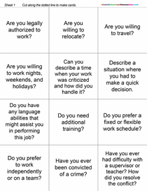 ESL Group Discussion Activity: Common Job Interview Questions | eBooks | Education