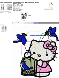 Hello Kitty Embroidery Design | Crafting | Sewing | Other
