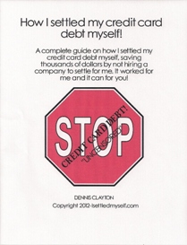 How I settled my credit card debt myself!