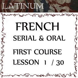 french - serial and oral - first course - lesson 1
