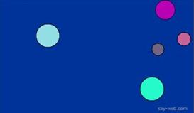 random color bouncing balls actionscript 3.0 component