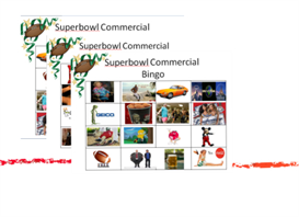 Superbowl Commercial Bingo | Other Files | Everything Else