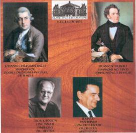 JC Bach: Double Sinfonia in E-flat/Schubert: Symphony No. 3 & Symphony No. 5 - Cincinnati Symphony/Thor Johnson - Concertgebouw Orchestra/Eduard van Beinem | Music | Classical