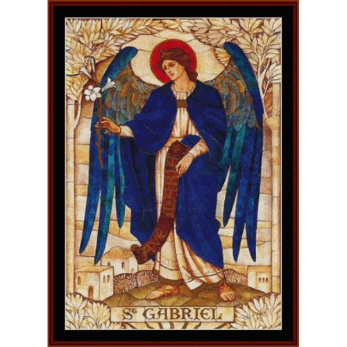 First Additional product image for - Gabriel - Religious cross stitch pattern by Cross Stitch Collectibles
