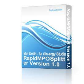 RapidMPOSplitter Version 1.0 | Software | Utilities