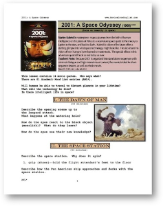 2001: A SPACE ODYSSEY,  Whole-Movie English (ESL) Lesson | eBooks | Education