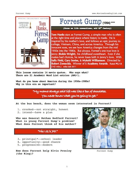 forrest gump english essay example The following article is an essay example that can be useful for your college   forrest gump is a man who is a little naïve as well as a little slow-witted but he is .