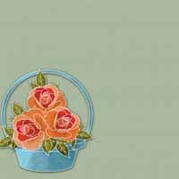 basket of roses backing paper pack