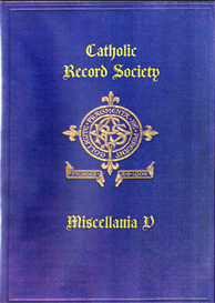 The Catholic Record Society Miscellanea V | eBooks | Reference