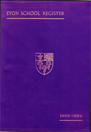 Eton School Register, 1893-1899 | eBooks | Reference