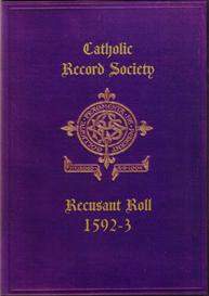 recusant roll no. 1., 1592-3.