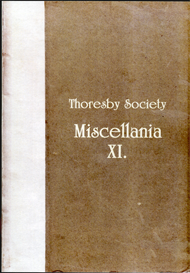 The Publications of the Thoresby Society Volume XI - Miscellania | eBooks | Reference