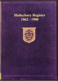 haileybury school register, 1862-1900.