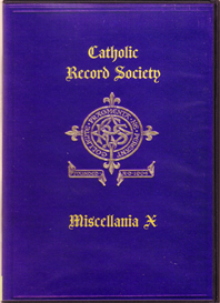 The Catholic Record Society Miscellanea X | eBooks | Reference